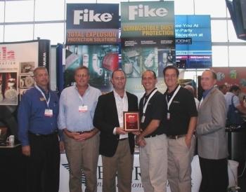 2010 Fike sales award at tradeshow